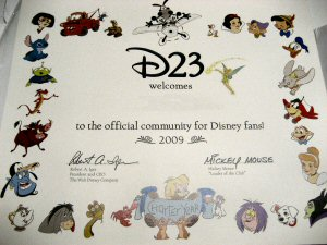 The D23 Certificate