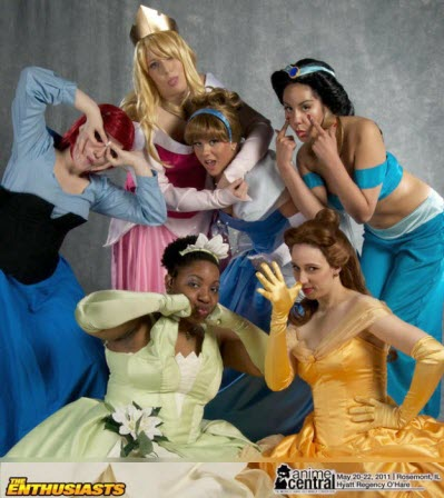Funny Disney Princess Faces in Chicago
