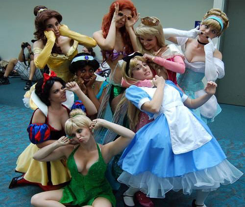 Disney Princesses making Funny Faces